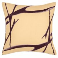 Kensie Blossom Branches Square Throw Pillow in Peach