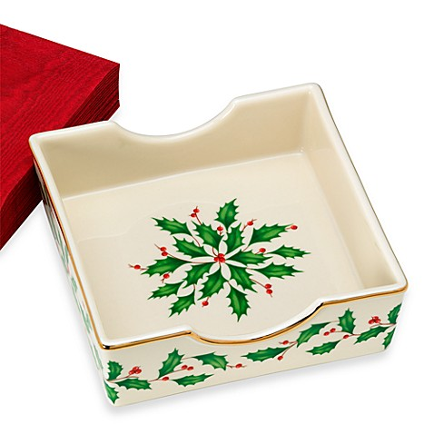 Lenox holiday napkin holder bed bath beyond for Bathroom napkin holder