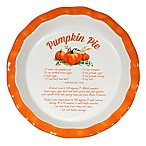 10-Inch Decorative Ceramic Pumpkin Pie Plate
