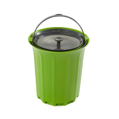 full circle breeze 85 gallon countertop compost bin in greenslate