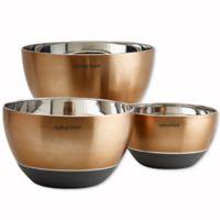 Epicurious 3-Piece Mixing Bowl Set in Copper