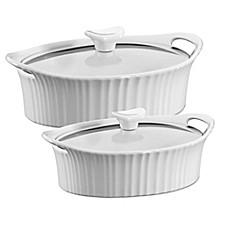 Corningware 174 French White 174 Ceramic Oval Casserole Bed