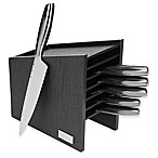 Fleischer & Wolf London 7-Piece Knife Block Set in Black