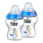 Tommee Tippee® Closer to Nature® 2-Pack 9-Ounce Deco Baby Bottle in Blue
