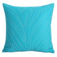 Kensie Kara Zebra Square Throw Pillow in Turquoise