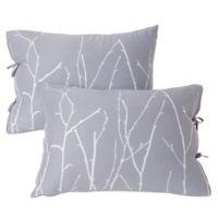 Kensie Vicki Left King Pillow Sham in Silver/Black