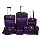 Lucida 6-Piece Luggage Set in Purple