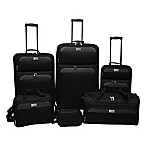 Lucida 6-Piece Luggage Set in Black