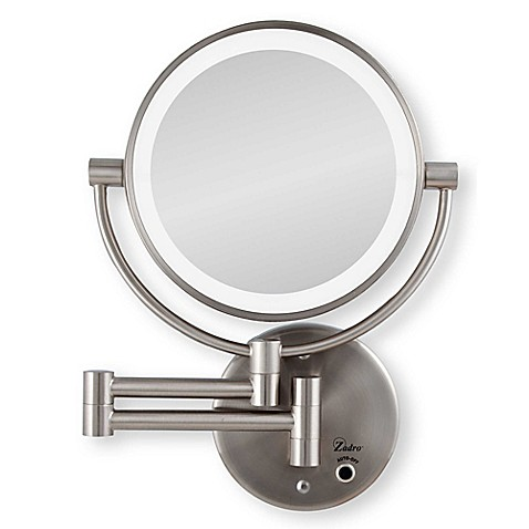 bed bath and beyond bathroom mirrors zadro 10x 1x cordless led lighted wall mirror bed bath 25031