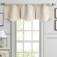 Waterford® Linens Colby Pleated Window Valance in Ivory
