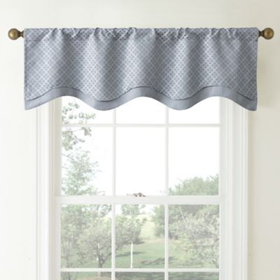 buy blue valances from bed bath & beyond