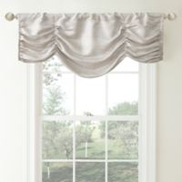 Waterford® Linens Aria Ruched Window Valance in Natural