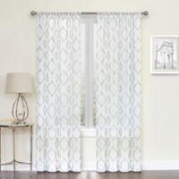 Hourglass 95-Inch Sheer Rod Pocket Sheer Window Curtain Panel