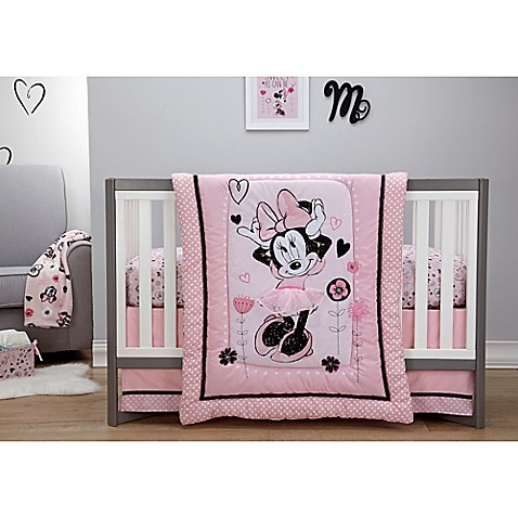 Disney 174 Minnie Mouse Hello Gorgeous 3 Piece Crib Bedding