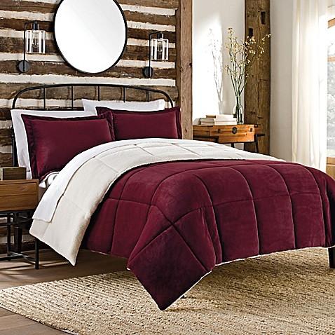 So Soft Plush Reversible Mini Comforter Set Bed Bath
