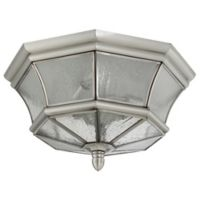 Quoizel Newbury Outdoor Flush Mount Ceiling Light in Pewter