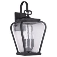 Quoizel Province Large 3-Light Wall Mount Outdoor Lantern in Mystic Black