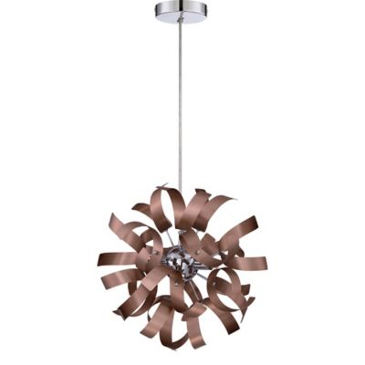 Quoizel ribbons 3 light mini pendant light in satin copper