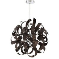 Quoizel Ribbons 17-Inch 5-Light Pendant Light in Western Bronze