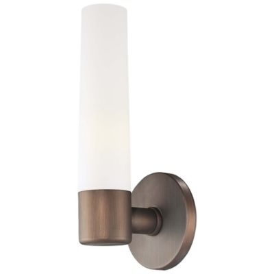 George KovacsR Saber 1 Light Wall Sconce In Copper Bronze Patina With Glass Shade