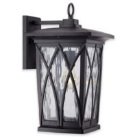 Quoizel Grover 17.5-Inch Outdoor Wall Lantern in Matte Black
