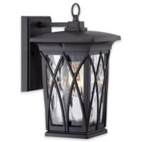 Quoizel Grover 11-Inch Outdoor Wall Lantern in Matte Black