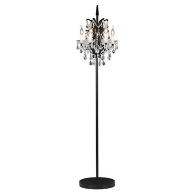 Zuo phoenix floor lamp in black