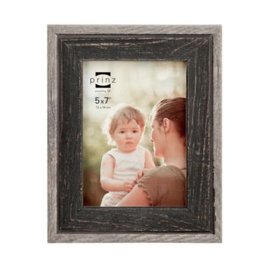 prinz bryce 5 inch x 7 inch wood picture frame in black