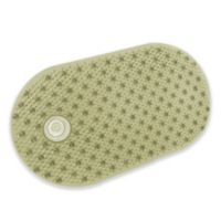Bubble 15-1/2 Inch x 27-1/2 Inch Tub Mat with Hair Catcher in Sage