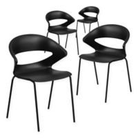 Flash Furniture 440 Stack Chair4-Pack in Black