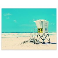 Green Box Art Murals That Stick 24-Inch x 18-Inch Beach Tower Wall Art