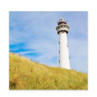 Green Box Art Murals That Stick 28-Inch x 28-Inch Lighthouse on Hill Wall Art