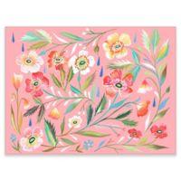 GreenBox Art Murals That Stick 35-Inch x 28-Inch Anemone Garden Wall Art