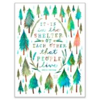 Posters That Stick Katie Daisy Shelter 18-Inch by 24-Inch Wall Art
