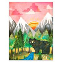 Posters That Stick Katie Daisy Sunrise Bear 18-Inch by 24-Inch Wall Art