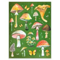 GreenBox Art Mushroom Chart 18-Inch x 24-Inch Wheatpaste Wall Art