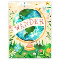 GreenBox Art Wander Globe 28-Inch x 35-Inch Removable Wall Decal