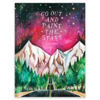 "GreenBox Art ""Paint the Stars"" 18-Inch x 24-Inch Wheatpaste Wall Art"