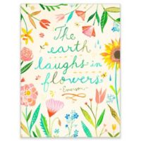 "GreenBox Art Murals That Stick 18-Inch x 24-Inch ""The Earth Laughs in Flowers"" Wall Art"