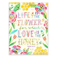 "GreenBox Art Murals That Stick 18-Inch x 24-Inch ""Life is the Flower; Love is the Honey"" Wall Art"