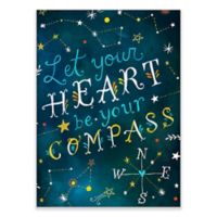 "GreenBox Art Murals That Stick 18-Inch x 24-Inch ""Let Your Heart be Your Compass"" Wall Art"