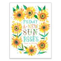 "GreenBox Art ""A New Sun Rises"" 18-Inch x 24-Inch Wheatpaste Wall Art"