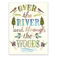 "GreenBox Art ""Over the River and Through the Woods"" 18-Inch x 24-Inch Wheatpaste Wall Art"