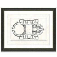 Framed Giclee Floor Plan Print I Wall Art