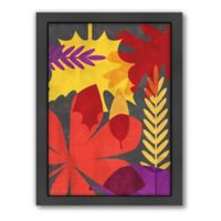 Americanflat Leaf Background by Jilly Jack Designs Wall Art