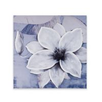 Madison Park Dusty Bloom Embellished Printed Canvas Wall Art in Grey