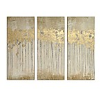 Madison Park Sandy Forest  Gel Coat Canvas with Gold Foil Embellishment Wall Art in Taupe (Set of 3)