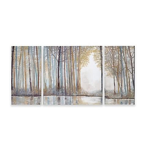 Superb Madison Park Forest Reflections Gel Coated Canvas Wall Art (Set Of 3)   Bed  Bath U0026 Beyond