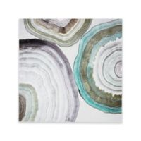Madison Park Natural Geo Glass Coated Canvas Wall Art in Green
