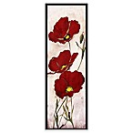 Red Look Floral Canvas Framed Wall Art